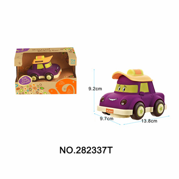 Cartoon Bus W/Light & Music Baby Toy