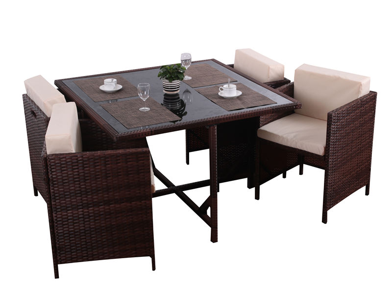 rattan outdoor dining set S2806