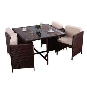 4 seater rattan ourdoor dining set