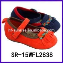 2015 muchachas vendedoras calientes del tessel zapatos vistosos de la muchacha de los zapatos de las muchachas elegantes de los zapatos