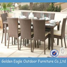 Extérieure en aluminium extension table à manger chaises