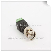 Preço de fábrica Coax CAT5 Para CCTV Câmera Coaxial BNC Masculino Video Balun Conector