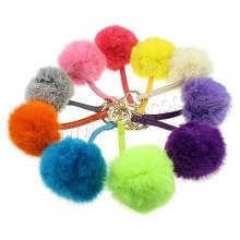 2016 Gets.com personalised keychain pom pom Rabbit Fur Key Chain