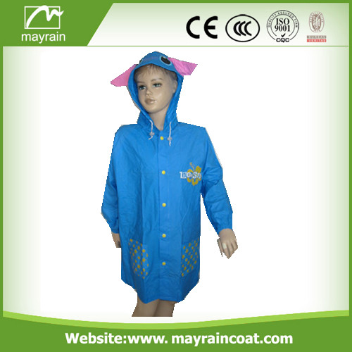 Emboss PVC and Frosty PVC Raincoat