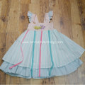 Striped Beach Party Wear Sleeveless kids Long Dress