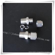 Connecteur à double ferrure en acier inoxydable