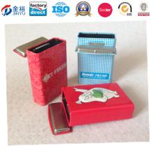 Коробка ювелирных изделий металла верхней ранга, коробка макияжа для украшения