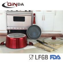 3pcs metallic painting cookware set