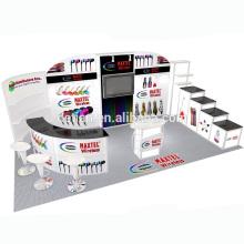 Detian offre 10x20 pieds publicité tissu de tension stand d'exposition