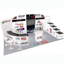 Detian Offer 10x20 feet advertising tension fabric display trade show booth