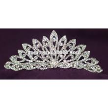 Хорошее качество Мини Скидка Блестящий Кристалл Свадебная Корона Пользовательские Tiara Свадебный
