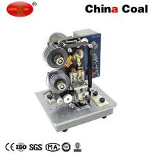 Semi Автоматическая машина для прикрепления этикеток стикера, с код принтер