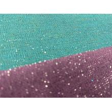Tissu tricoté en polyester lurex avec fil métallique