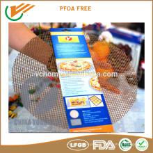 FDA LFGB Tapis de matelas de cuisine sain et antiadhésif, Facile à nettoyer Maille de cuisson PTFE