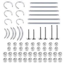 ASTM F136 Titanium Threaded Piercing Balls and Post Body Accessories Parts For Ear Nose Labret Use