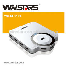 HUB USB 2.0 à 10 ports avec adaptateur secteur, concentrateur usb de 480Mbps