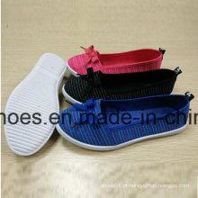 Sapato de injeção de lona de lazer ao ar livre com bom preço para mulheres