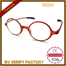 New Trendy Tr90 Round Frame Reading Glasses with Long Temple R004