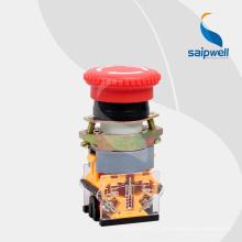 Bouton poussoir d'urgence Saipwell de haute qualité / bouton plat avec lumière LAY50-AA-Z