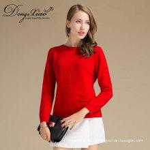 Venta caliente de Turquía ventas hechos a mano de cachemir con diseños de suéter de bolsillo para niñas