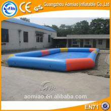 Grande piscine gonflable gonflable rectangulaire large / location de piscine gonflable