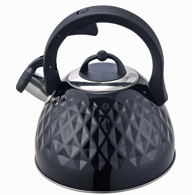 Fh 510a Hot Sell Diamond Design Whistle Kettle Black