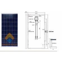 Energía de energía del panel solar de 185W Watt Poly