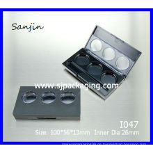 Lidschattenkasten 3 Farben fansh Lidschattenbehälter 3 Wannenaugenschminkeverpackung im Augenschattenfall