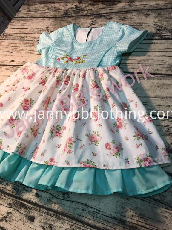 girls embroidery dress
