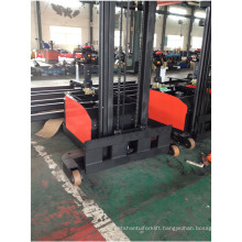 Wide leg counterbalance stacker wide fork width forklift non-standard powered pallet stack