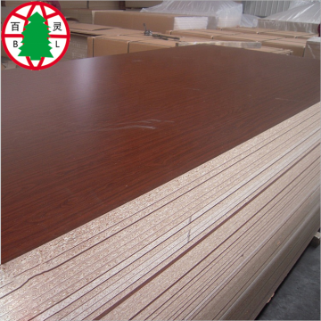 Waterproof Melamine Laminated Raw Chipboard For Furniture