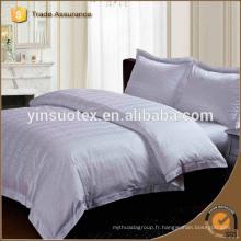 100% coton Bande de haute qualité Beige Hotel Linen Hotel Feuille de lit