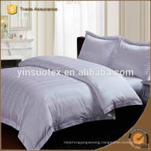 100% Cotton High-quality Strip Beige Hotel Linen Hotel Bed Sheet