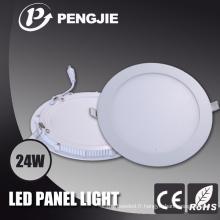 Pièces rondes d'éclairage de panneau de PC de LED avec 3 ans de garantie