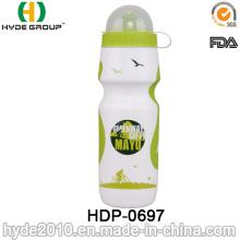 Heißer Verkauf BPA FREI PE Plastiktrinkende Sportflasche, Plastiktrinkende Sportwasserflasche (HDP-0697)