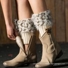 Оптовая женщин Мохеровый носок зимой ноги гетры