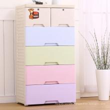 Colorful Fashion Plastic Wardrobe Drawer Cabinet (206025)