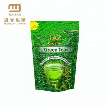 China Aluminum Foil Ziplock Stand Up Pouch Own Logo Print Customized Resealable Plastic Bags For Tea Packaging
