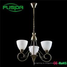 Lámpara de araña de vidrio blanco marroquí Down