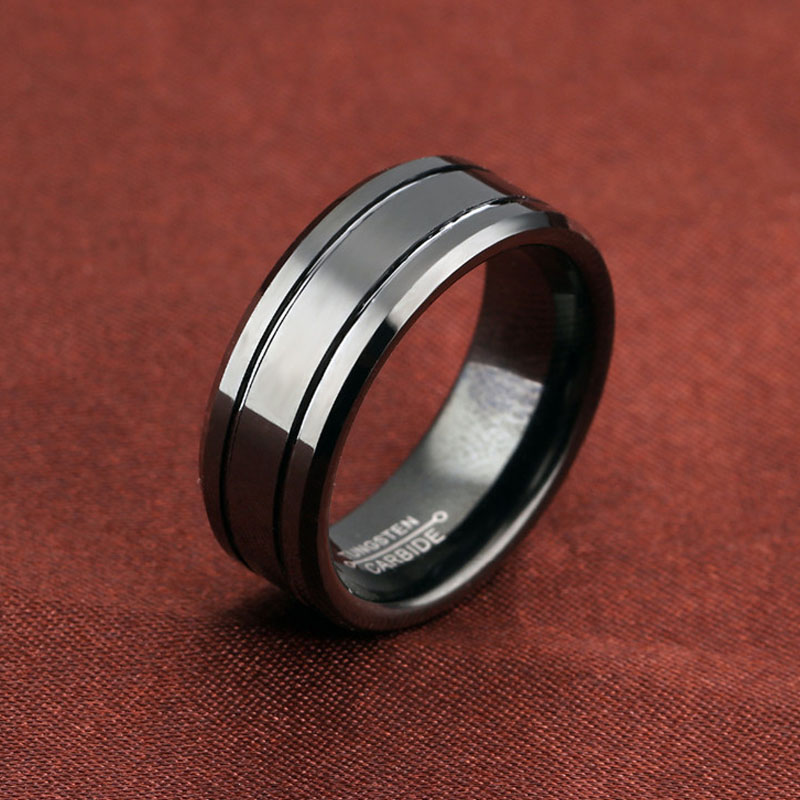 Black Tungsten Wedding Bands