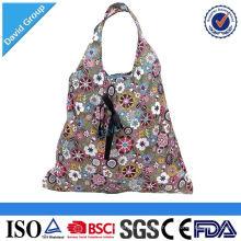 Alibaba Top Supplier Promotional Custom Polyester Folding Reusable Shopping Bag