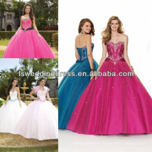 HQ2001 2014 New style royal blue quinceanera dresses ball gown