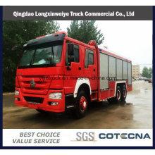 Camión de lucha contra incendios HOWO de rescate de emergencia