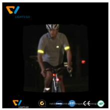 Пользовательские флуоресцентный зеленый спорта тема светоотражающий безопасности предупреждение светоотражающая полоска для промотирования