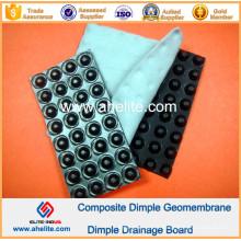 Placa impermeável de geomembrana de covinha HDPE