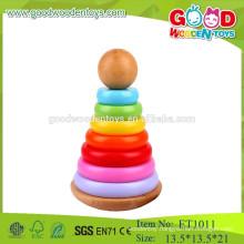 2015 newly colorful kids wooden jenga game custom toys