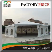 Guangzhou usine grand 25m en aluminium Dodecagon luxe polygon tentes de mariage pour 350 personnes