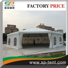 Guangzhou factory large 25m aluminum Dodecagon luxury polygon wedding tents for 350 people