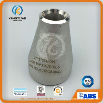 Acero inoxidable Ecc. Racor reductor con el Ce (KT0023)
