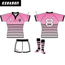 Any Team Any Logo Team Women Pink Rugby Jersey American Football Jersey
